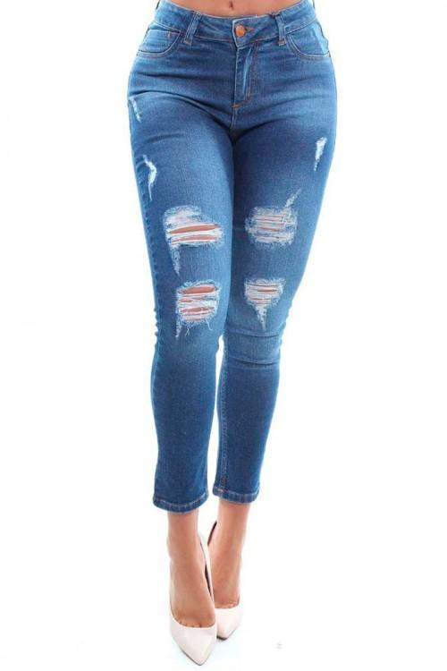 Calça Jeans com Elastano - 47980