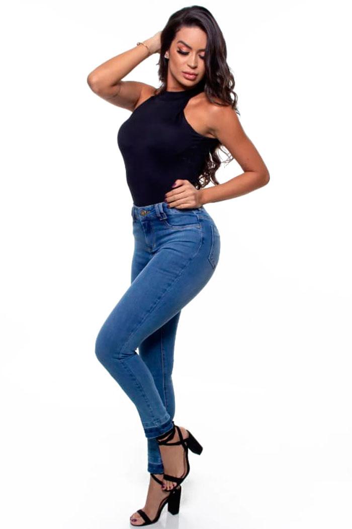 Calça Jeans com Elastano - 48059